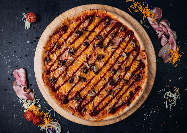 Bacon Burger Pizza