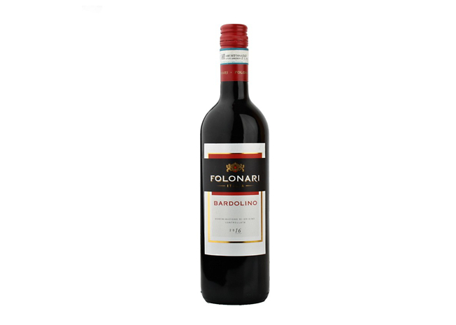 Víno červené Folonari Bardolino 0,75L 12,5%