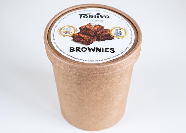 Tomivo Gelato - Brownies 500 ml