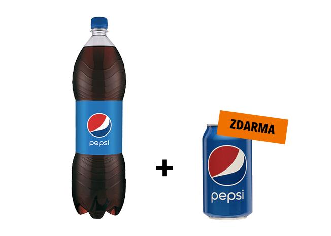 Pepsi 1.5L + Pepsi 0.33L zdarma