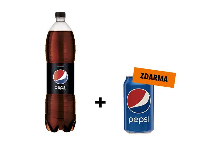 Pepsi Max 1,5L + Pepsi 0,33L zdarma