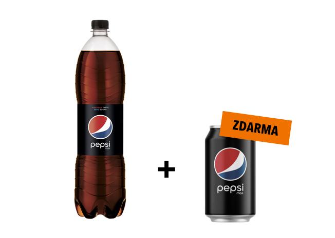 Pepsi Max 1,5L + Pepsi Max 0,33L zdarma