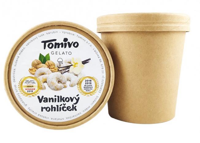 Tomivo Gelato - Vanilkový rohlíček 500 ml