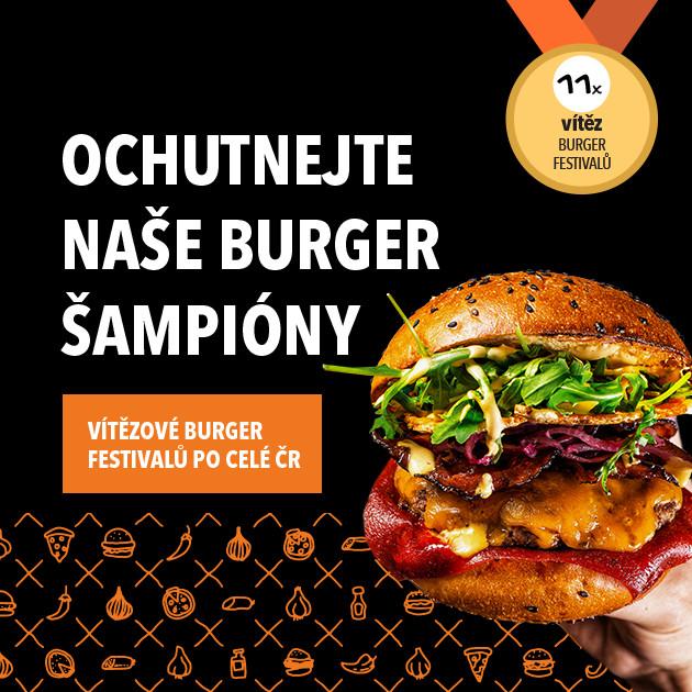 Ochutnejte naše burger šampióny
